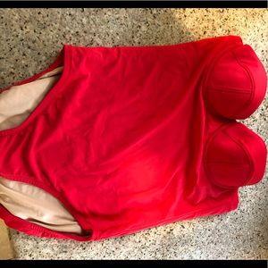 J Crew corset swim suit